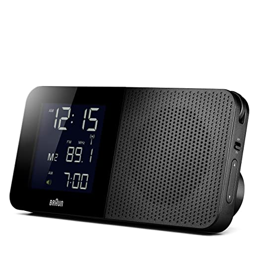 Braun BNC010BK - Reloj despertador digital con control por radio global, color negro: Amazon.es: Hogar