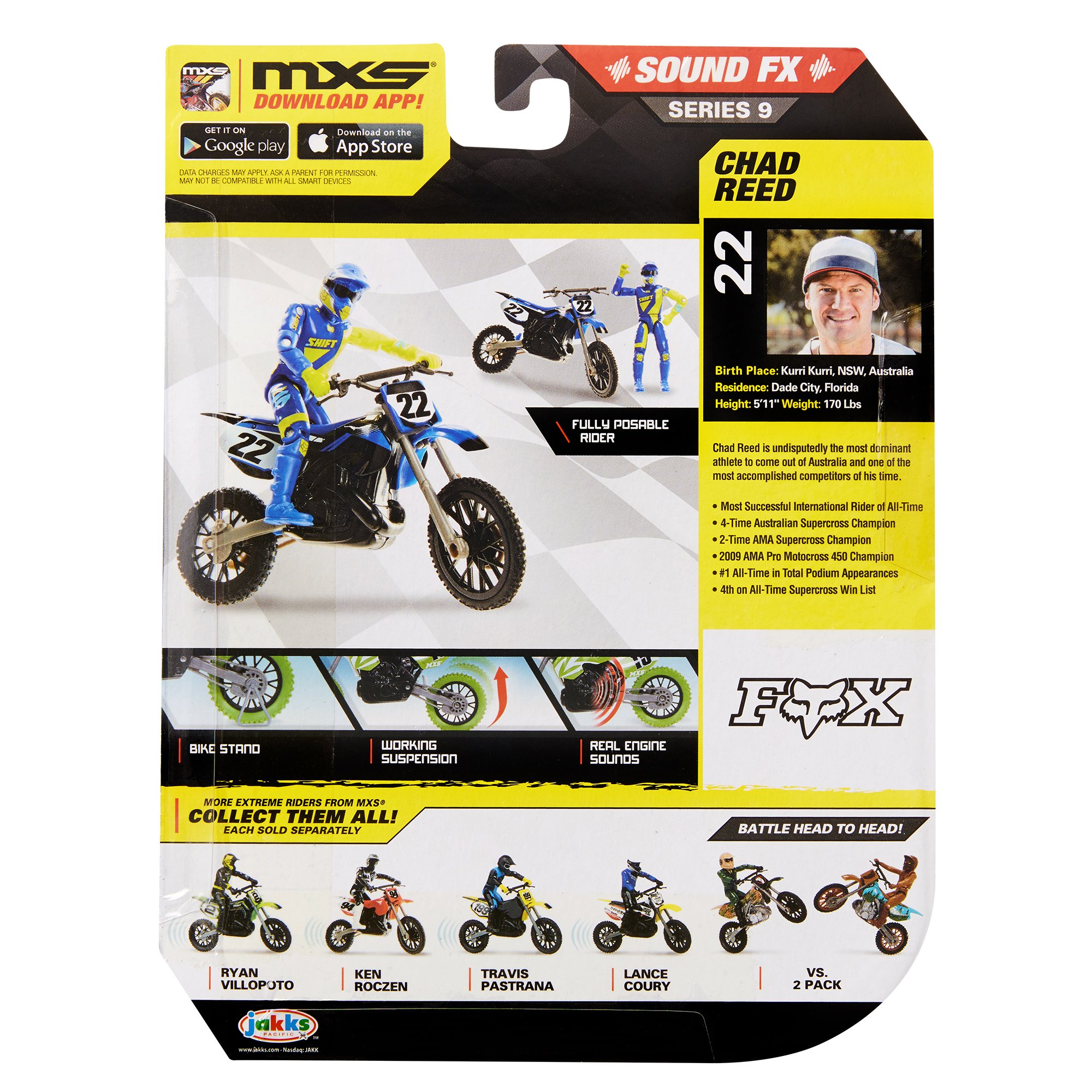 MXS Boys Chad Reed SFX Bike & Rider Set by MXS (Image #7)