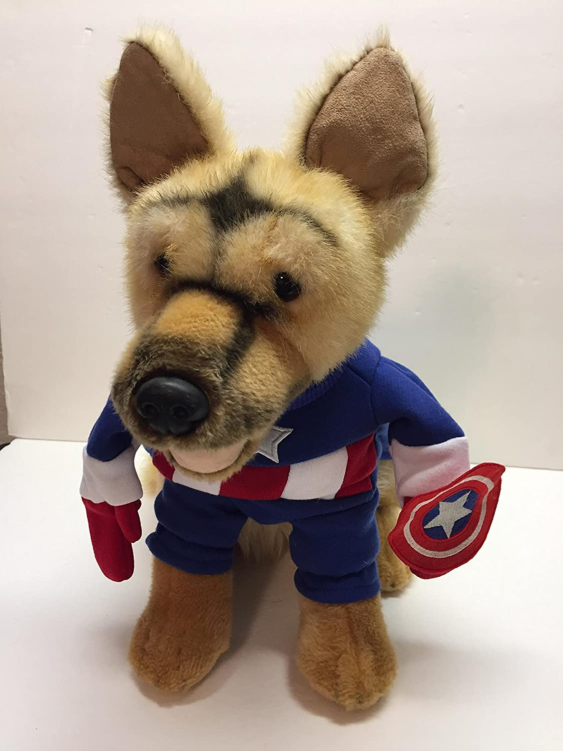 Amazon Com Captain America Marvel Dog Costume Small Pet Supplies He can lead the avengers on a quest to save the world in this cute iron man costume for dogs. amazon com captain america marvel dog