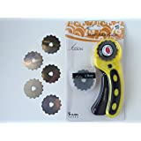 Crochet or Ribbon Edge Skip Stitch Rotary Blades and Cutter by CESDes for professional edge finishes (5)