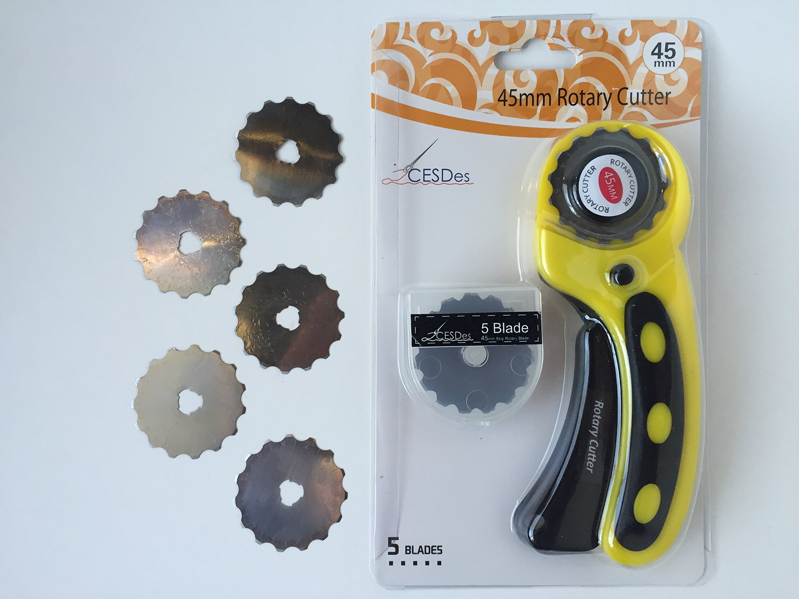 Crochet or Ribbon Edge Skip Stitch Rotary Blades and Cutter by CESDes for professional edge finishes (5) by CESDes