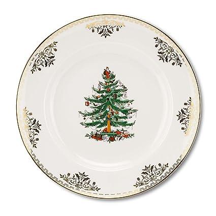 Amazon.com | Spode Christmas Tree Gold Dinner Plate: Dinner Plates