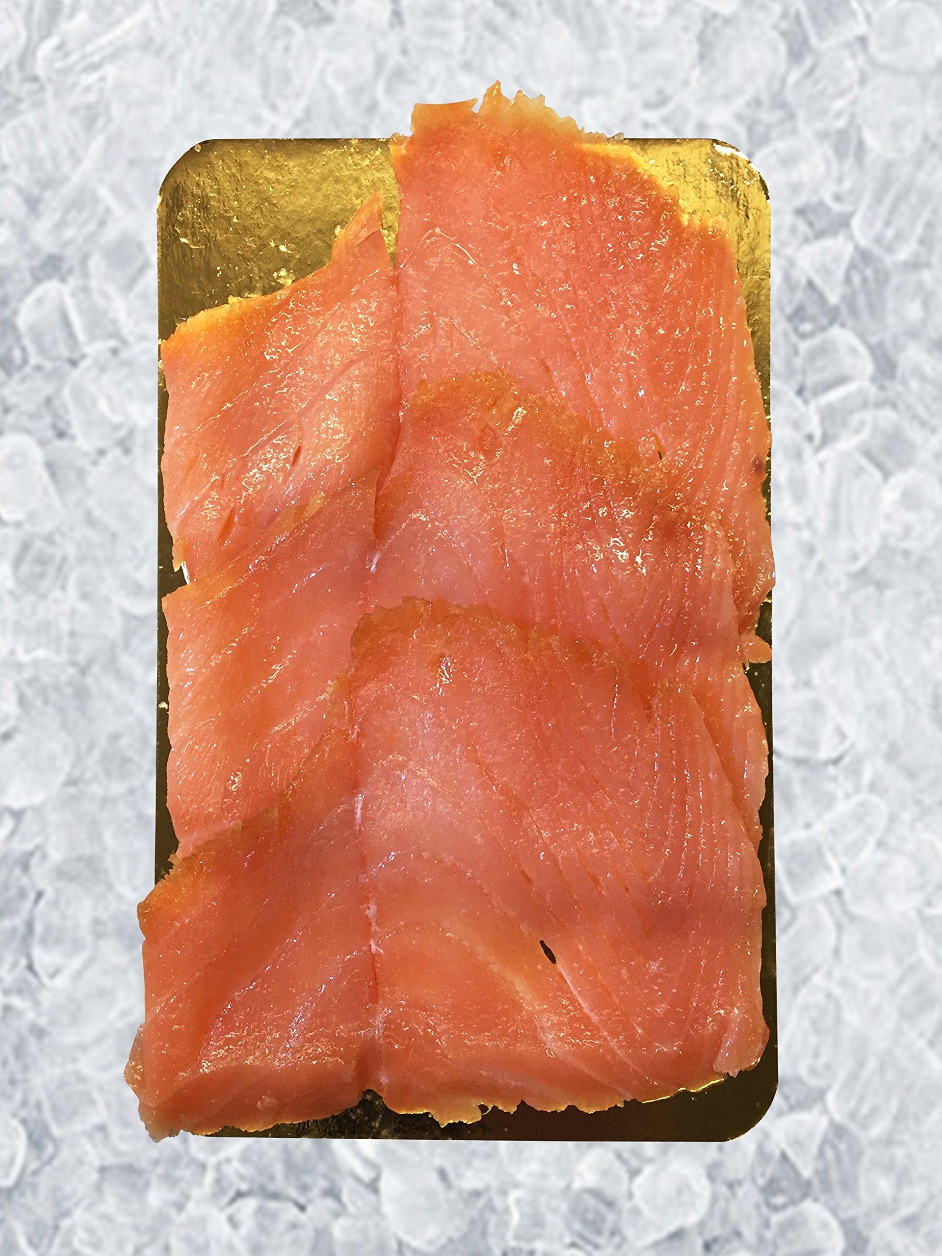 Sliced Norwegian Style Smoked Salmon, 12 Oz. PKG, 12 PCS by Banner Smoked Fish