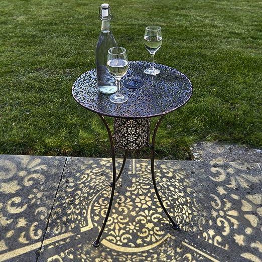 GloBrite - Lámpara solar para mesa de jardín (luz solar, con luz ...