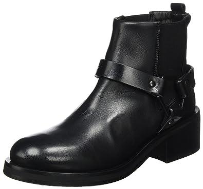Royal RepubliQ District Biker Boot, Botas de Motorista para Mujer, Schwarz (Black), 37 EU