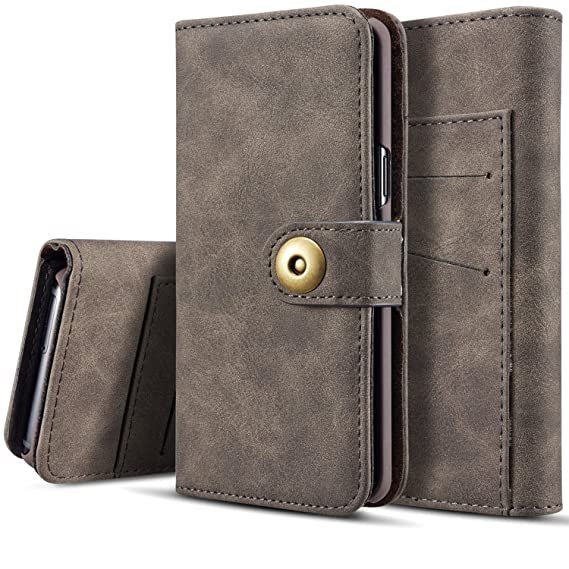 finest selection e8f9e 6875d Amazon.com: Galaxy S7 Wallet Case, SAVYOU S7 Detachable Magnetic ...