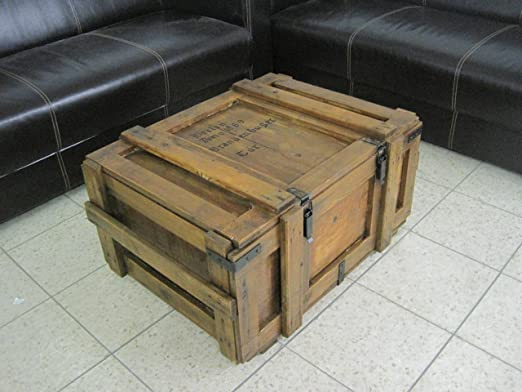 Caja madera Shabby Chic Vintage baúl mesa muebles cómoda: Amazon ...