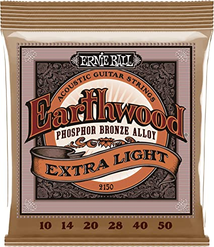 Ernie Ball 2150 Extra Slinky Acoustic Guitar Strings 10-50 Free Shipping in USA
