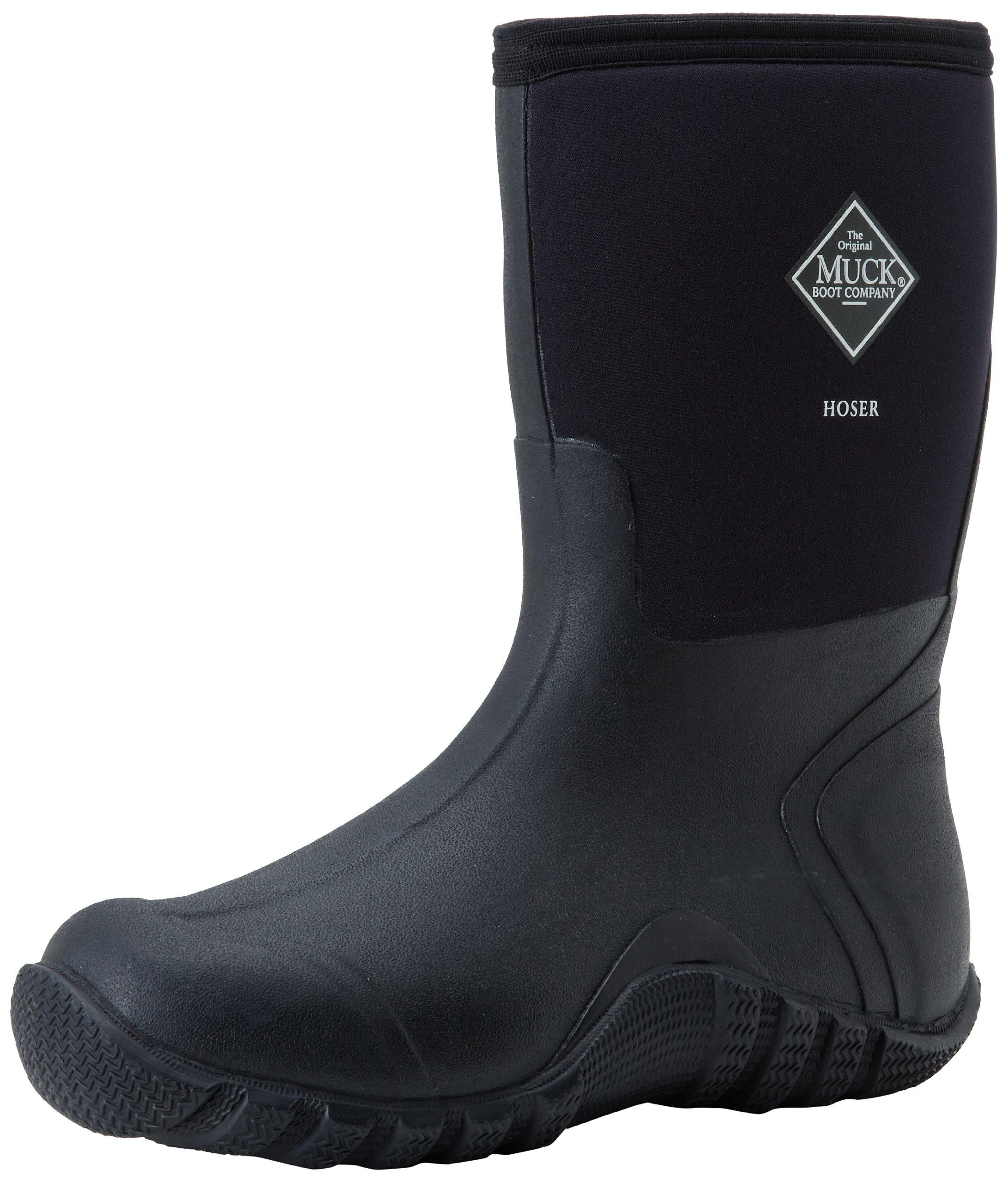 The Original MuckBoots Adult Hoser Mid Boot,Black,8 M US Mens/9 M US Womens
