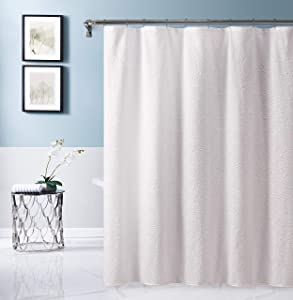 Dainty Home Sunrise Fabric Shower Curtain, White