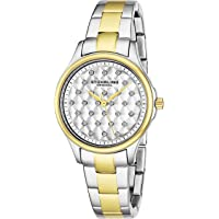Stuhrling Original Women's Quartz Watch with White Dial Analogue Display and Multicolour Stainless Steel Bracelet 567.02