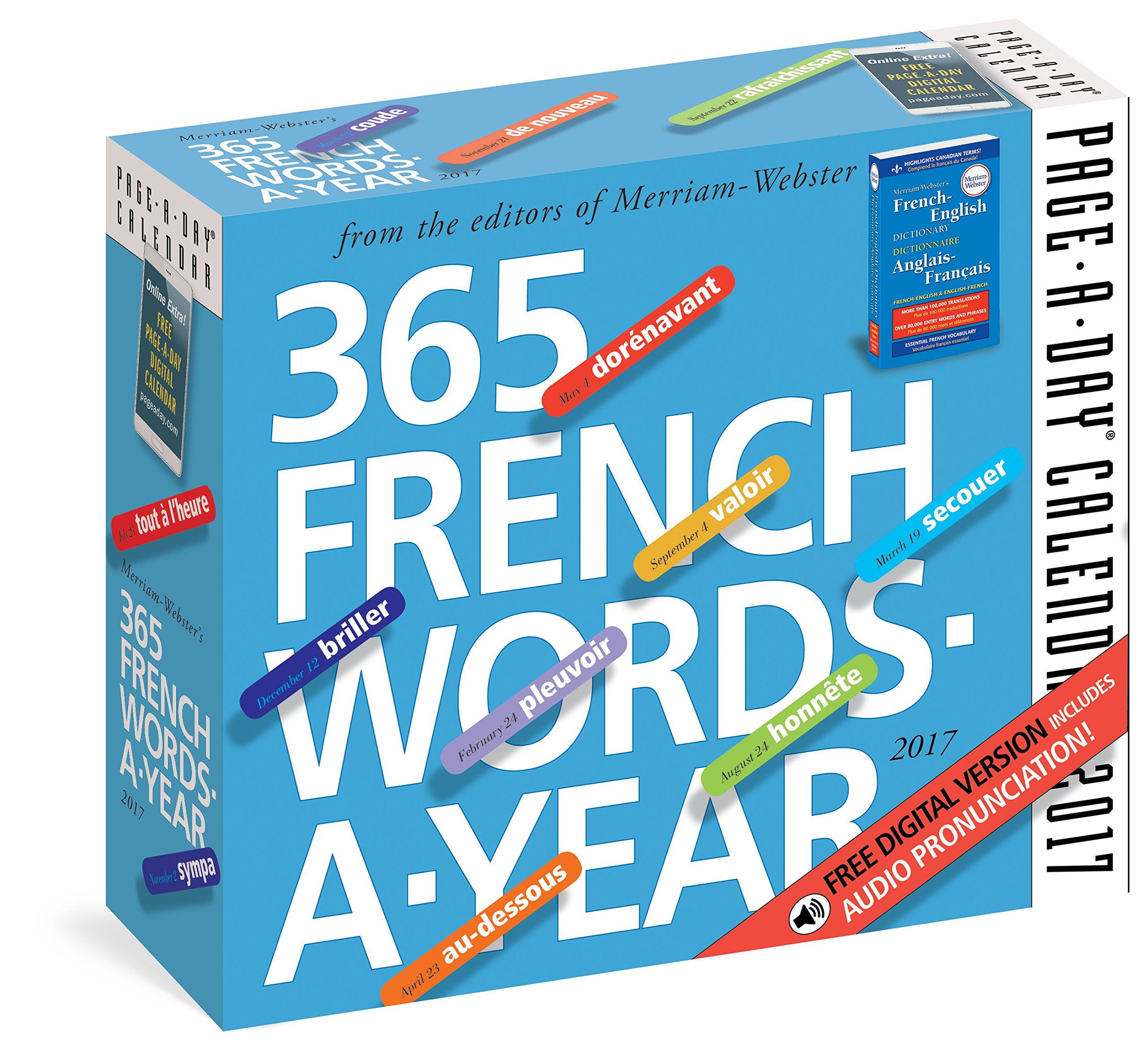 365 french words a year page a day calendar 2017 merriam webster