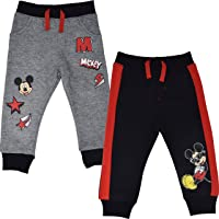 Disney Mickey Mouse Boys 2 Pack Fleece Drawstring Pants