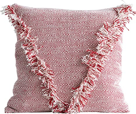 envelope pillow tutorial diy inspired.htm amazon com creative co op square cotton woven pillows  red home  creative co op square cotton woven