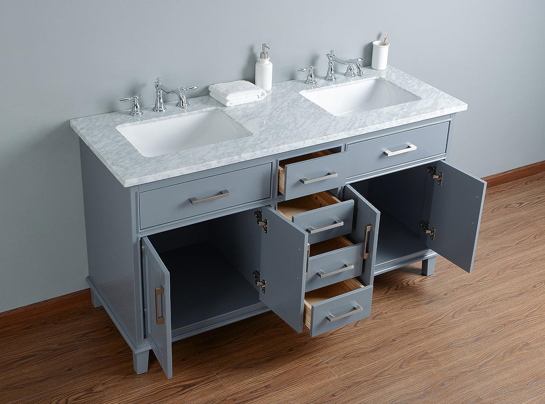 Stufurhome HD-1475G CR Leigh inch Double Sink Bathroom Vanity, 60 ...