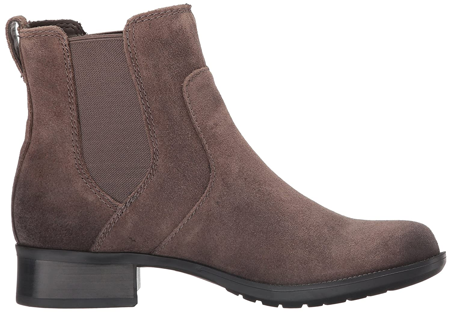 Rockport Cobb Hill Womens Christine Chelsea Boot, Grey, 8 M US