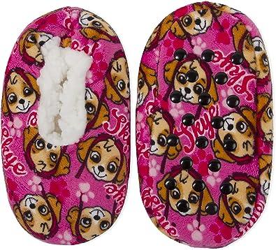 Toddler Skye Paw Patrol Fuzzy Babba Slipper Socks Size 2T-3T