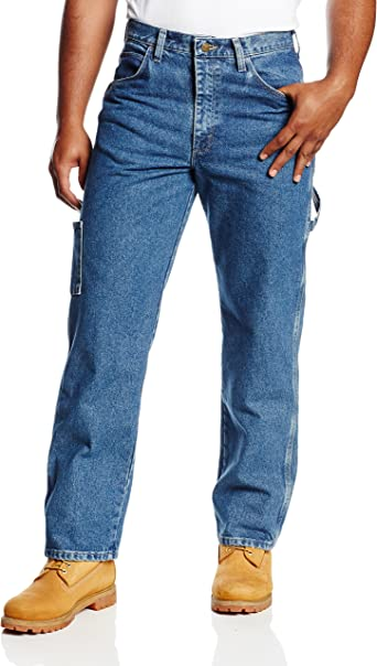 Bulwark 34 X 32 Stone Wash Cotton Denim Excel FR Flame Resistant Jeans With Button Closure