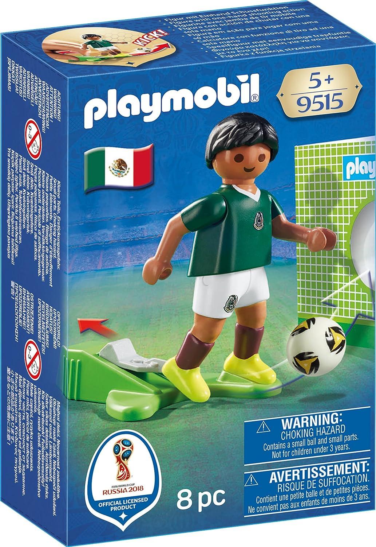 PLAYMOBIL-Jugador México Playset de Figuras de Juguete, Multicolor, 4,5 x 14,2 x 9,3 cm 9515