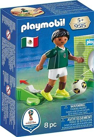 Playmobil Fútbol Jugador México 9515  Amazon.es  Juguetes y juegos ebddb709bd7