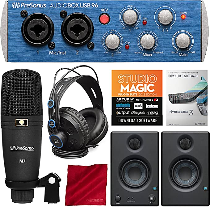Amazon.com: PreSonus PRESONUS_AUDIOBOX-USB-96_Kits de ahorro ...