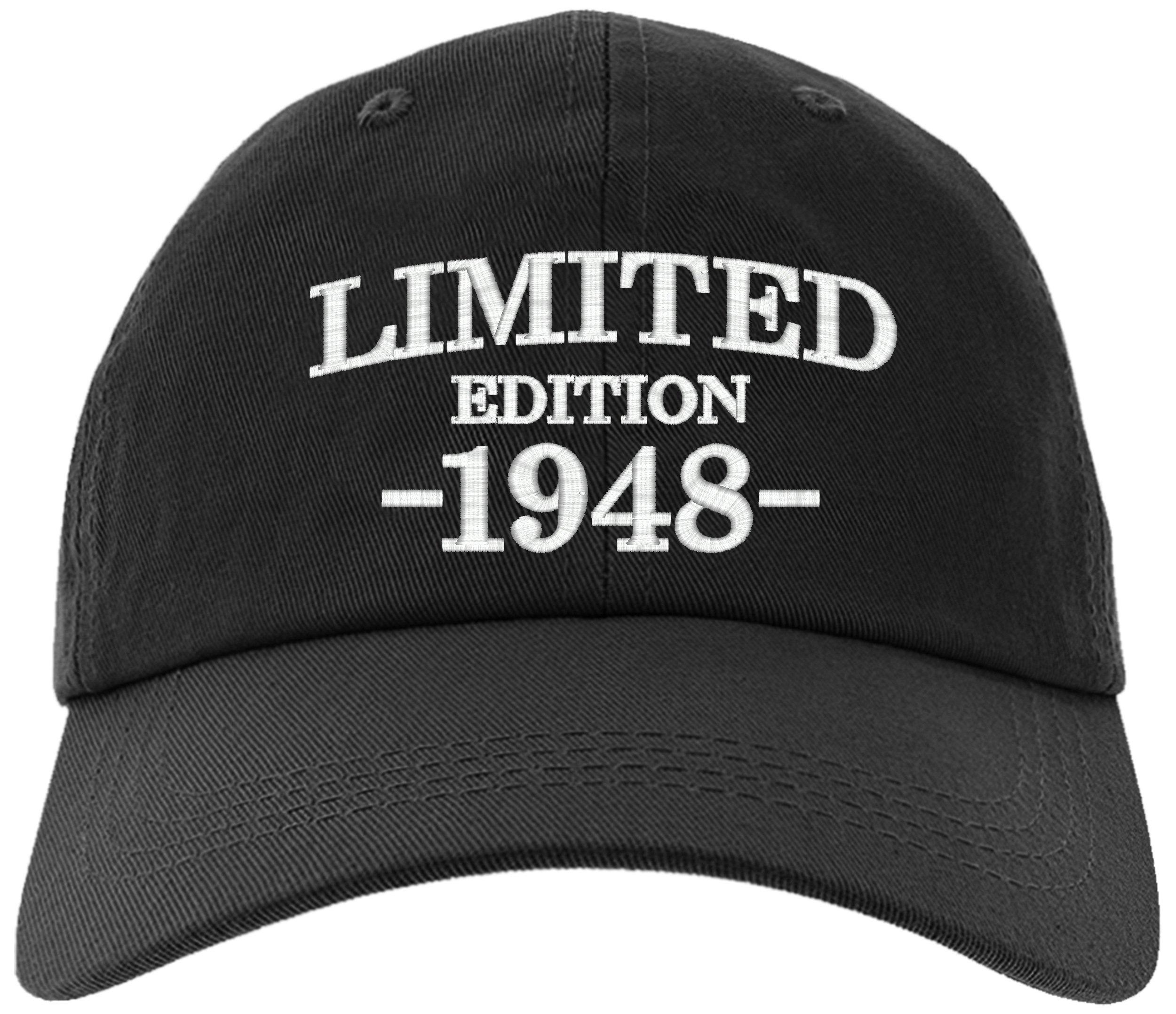 owndis Cap 1948-70th Birthday Gift, Limited Edition 1948 All Original Parts Baseball Hat 1948-EM-0002-Black