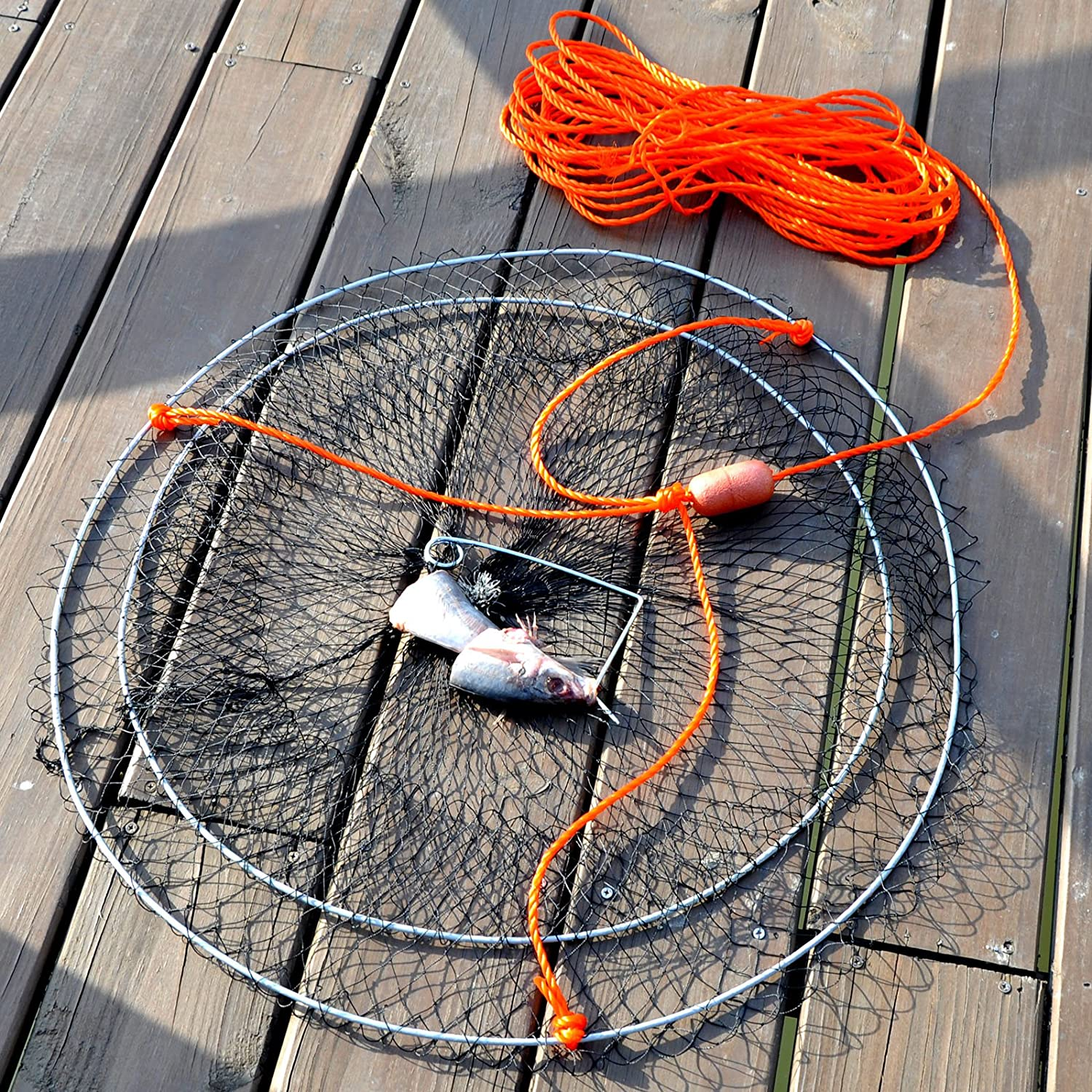 Amazon.com : Palmyth Crab Nets Two Ring Wire Crabbing Lobster Shrimp ...