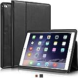"""KAVAJ iPad Air 2 Hülle Echtleder Case """"Berlin"""" für das Apple iPad Air 2 Schwarz aus echtem Leder mit Stand und Auto Schlaf/Aufwachenen Funktion. Dünnes Smart-Cover Schutzhülle Tasche Ledertasche"""