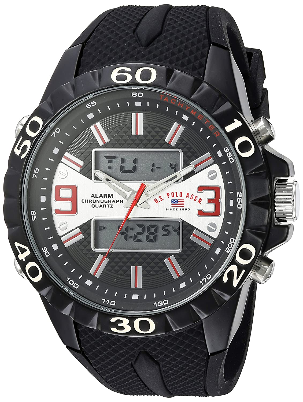 U.S.POLO ASSN. Reloj para Hombre de con Correa en Caucho US9599 ...