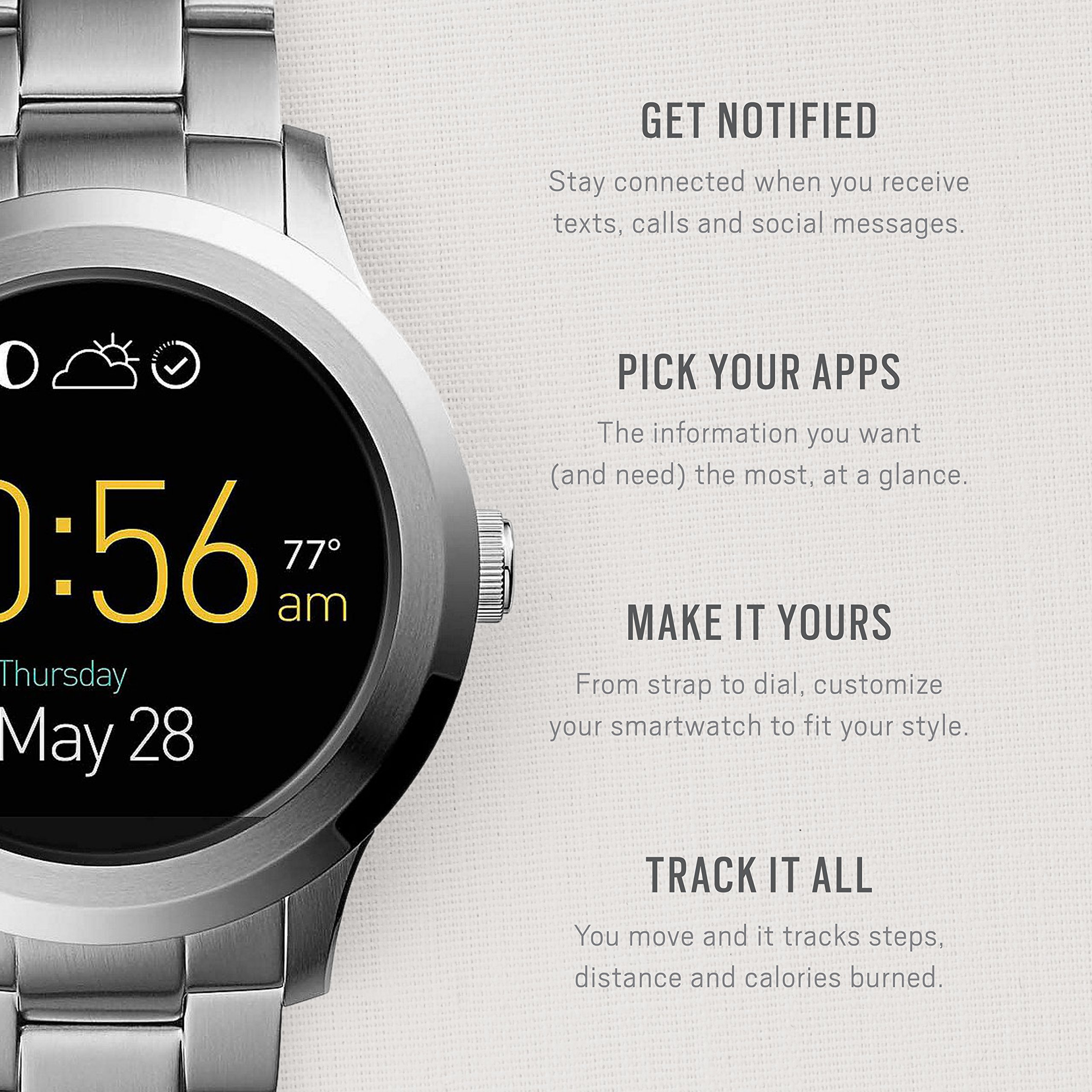 Fossil Q Founder Gen 2 Stainless Steel Touchscreen Smartwatch FTW2116 by Fossil (Image #2)