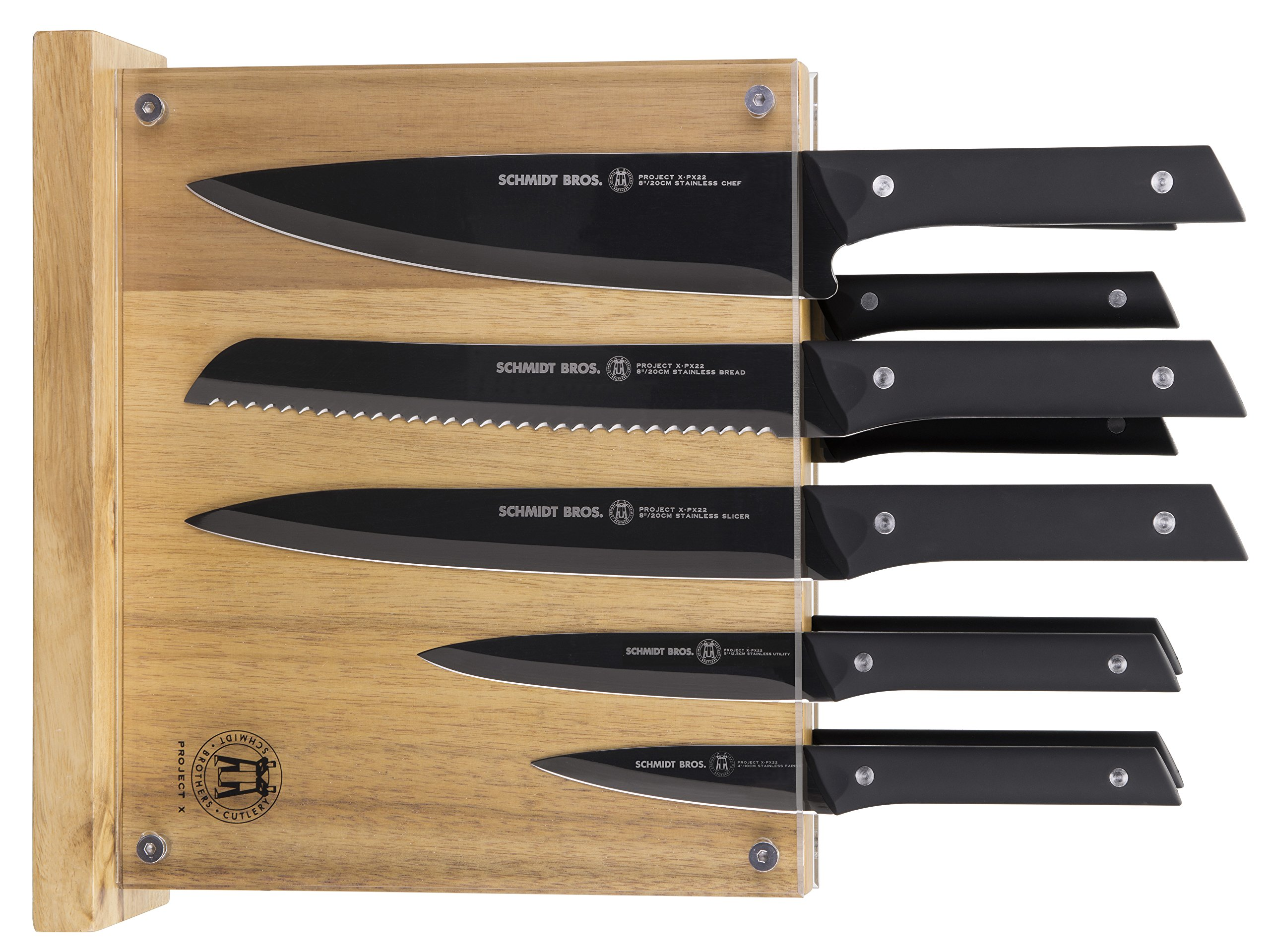 Project X by Schmidt Brothers 12 Piece Hudson Home Group 22 Knife Set, Black by Project X by Schmidt Brothers