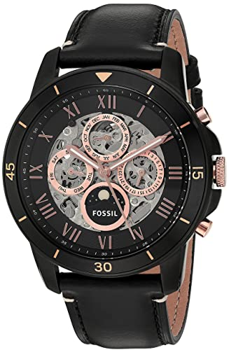 fa6db215e830 Amazon.com  Fossil Men s ME3138 Grant Sport Automatic Black Leather Watch   Fossil  Watches
