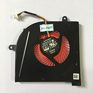 HK-part Fan Replacement for MSI GS63VR Series GS63VR 6RF GS63VR 7RF GS63VR Stealth Pro MS-16K2 MS-17B1 BS5005HS-U2F1 CPU Cooling Fan 4-Pin DC 5V 0.5A