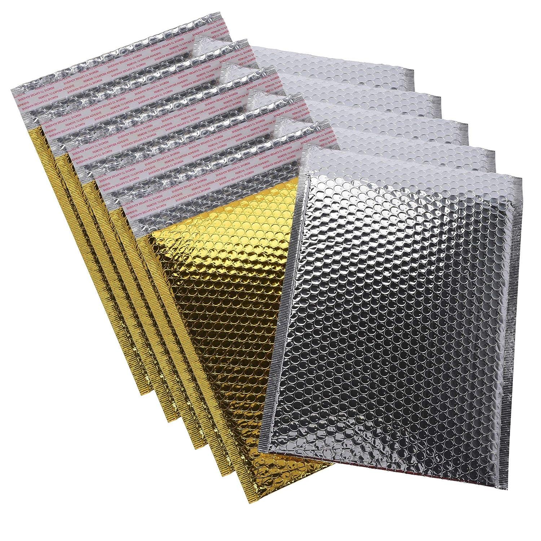 hibuy Luftpolsterumschlag//Luftpolstertasche 2 St/ück C4-24 x 30 cm DIN A4 Gold /& Silber metallisch