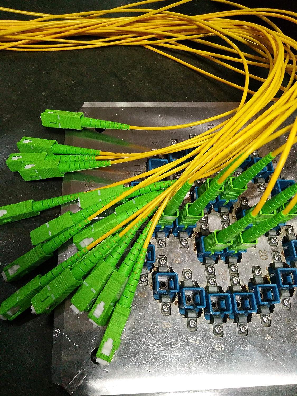8 Fibers LC LC//APC SC SC//APC FC FC//APC Singlemode 9//125 Fiber Optic Patch Cable 15m, LC