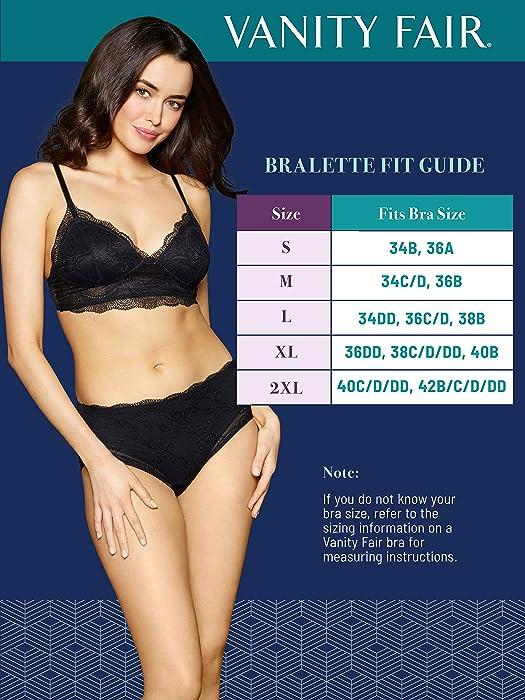 2d4673c15d Women s Flattering Lace Bralette 71070. Vanity Fair Women s Flattering Lace  Bralette 71070 ...