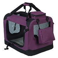 WOLTU #384 Hundebox Hundehütte Hundetransportbox Auto Transportbox Reisebox Katzenbox mit Hundedecke Faltbar Beige Grau Blau Rot Violett Schwarz S M L XL XXL XXXL