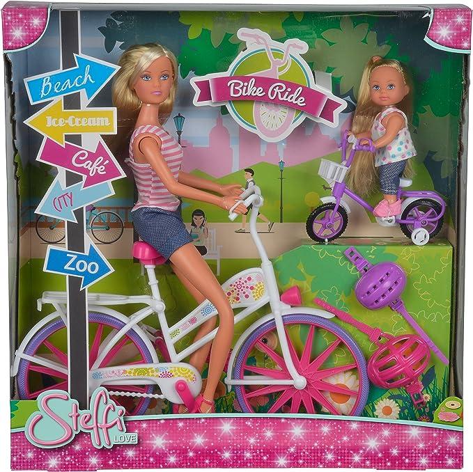 Amazon.es: Simba Steffi Love - Set Steffi y Evi con Bicicleta ...