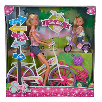Kids Toy Steffi Love Barbie Girl Love Bike Tour Doll w// Baby Birthday Toy Gifts