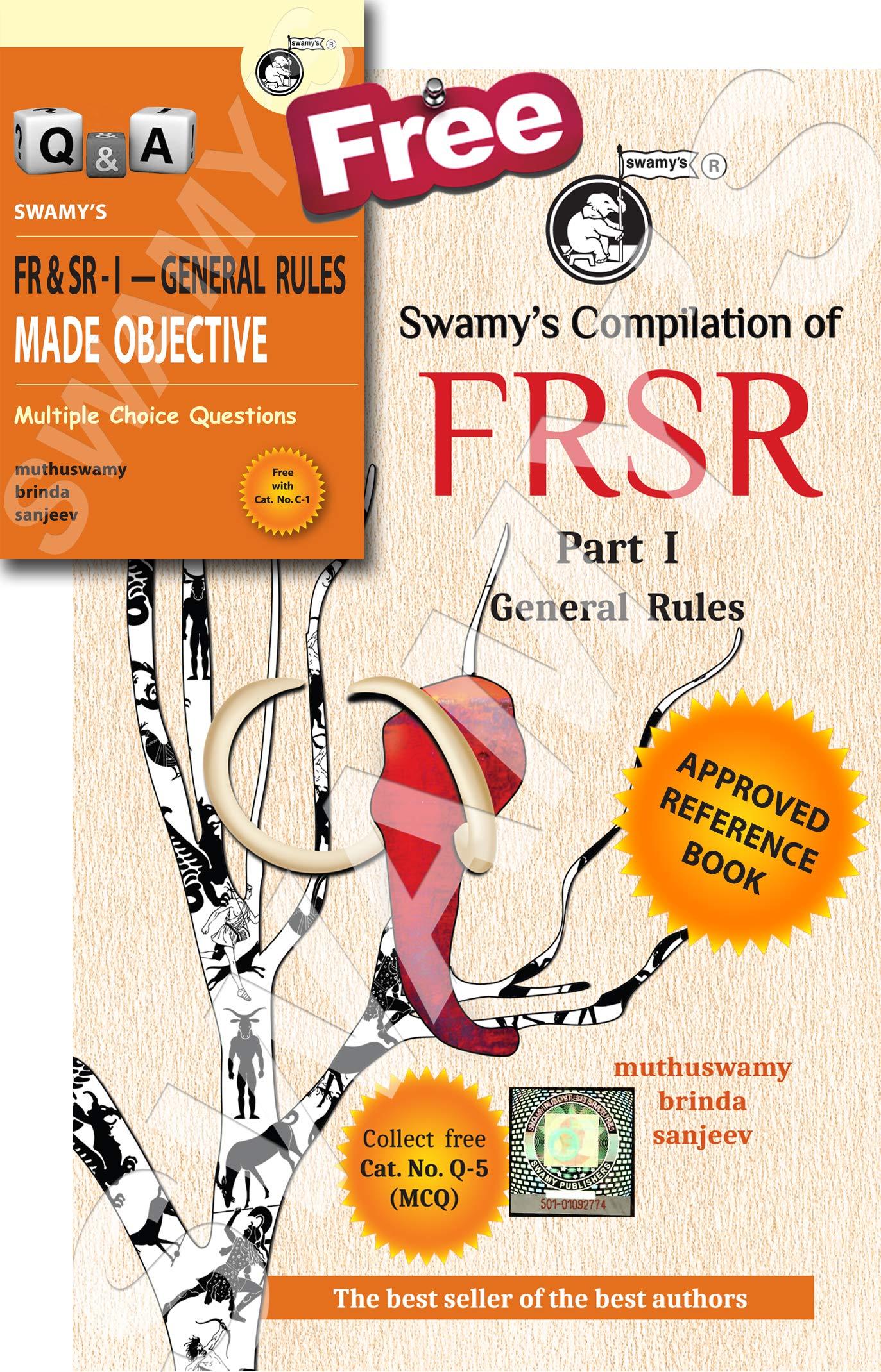 Buy Swamy's Compilation of FR & SR Part I - General Rules