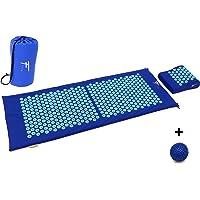 Kit d'acupression XL Fitem - Tapis d'Acupression + Coussin + Boule de Massage - Soulage douleurs Dos et Cou