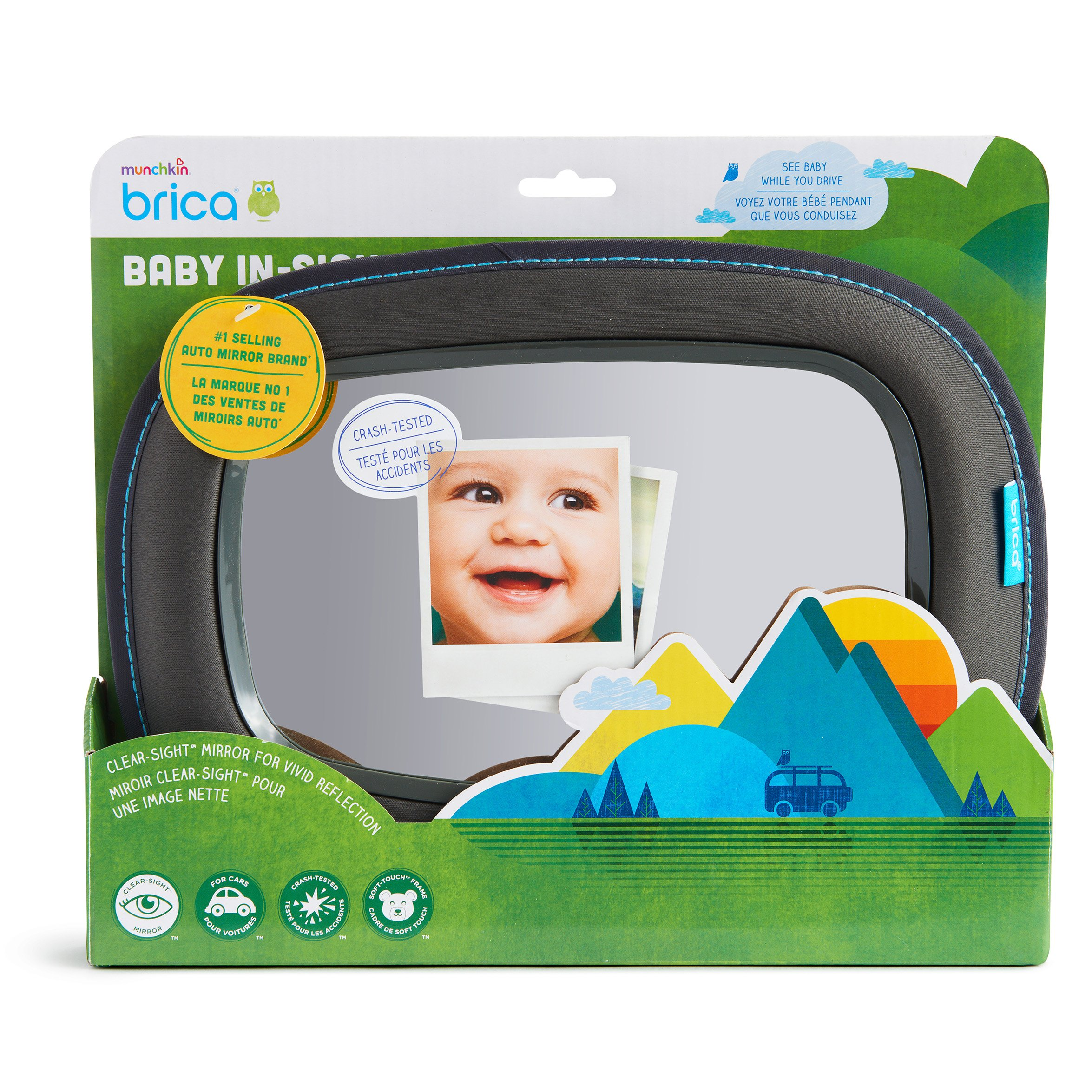 Brica Vivid Reflection Baby In-Sight Car Mirror, Crash Tested and Shatter Resistant by Brica (Image #6)