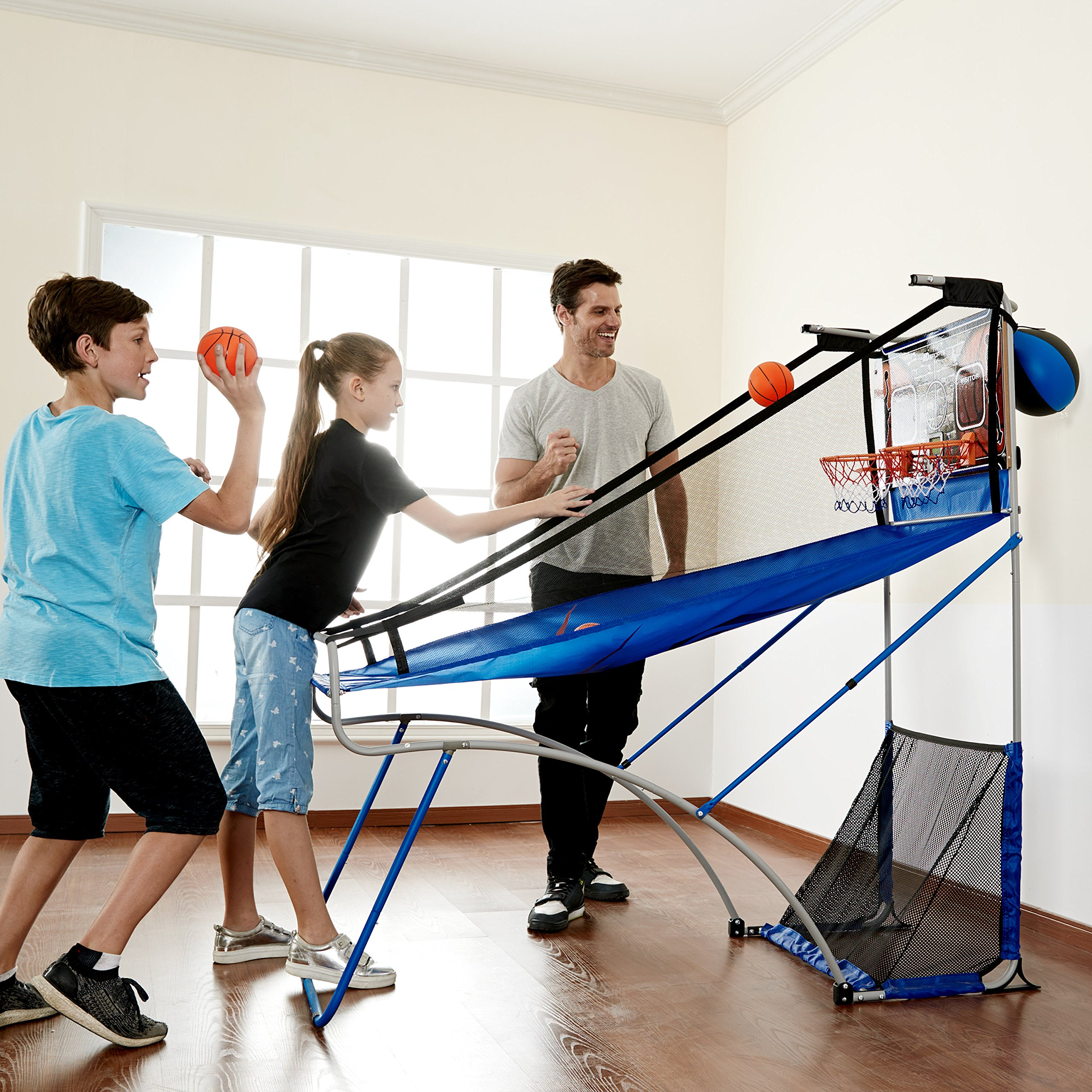 MD Sports BBG019_067M 4 in 1 Junior Basketball Game (Basketball, Soccer, Boxing & KNEE Hockey), Blue by MD Sports (Image #3)
