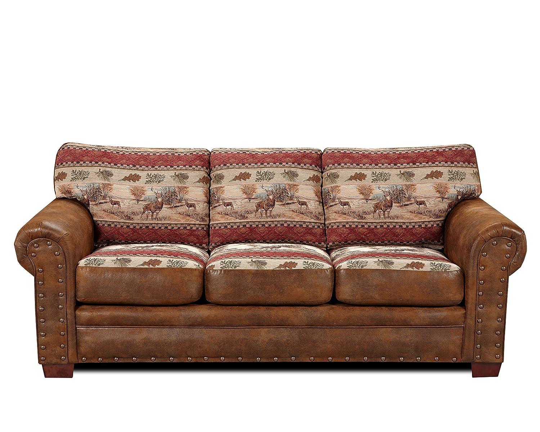 Amazon.com: American Furniture Classics Deer Valley Sleeper Sofa: Kitchen U0026  Dining