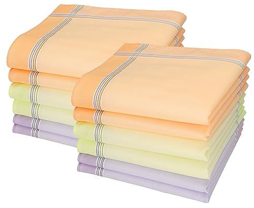 12 fazzoletti da donna, design Chanelle, misura 30 x 30 cm, 100 % cotone Color Dessin 126