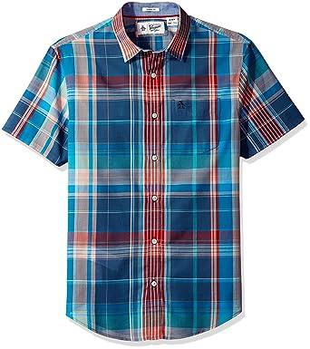 33623d571a9 Amazon.com  Original Penguin Men s Short Sleeve Button-Up Shirt ...
