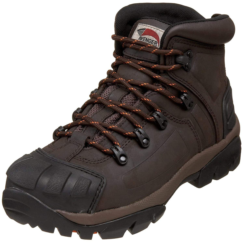 Avenger Safety Footwear メンズ B00394E73U 7 2E US|ブラウン ブラウン 7 2E US