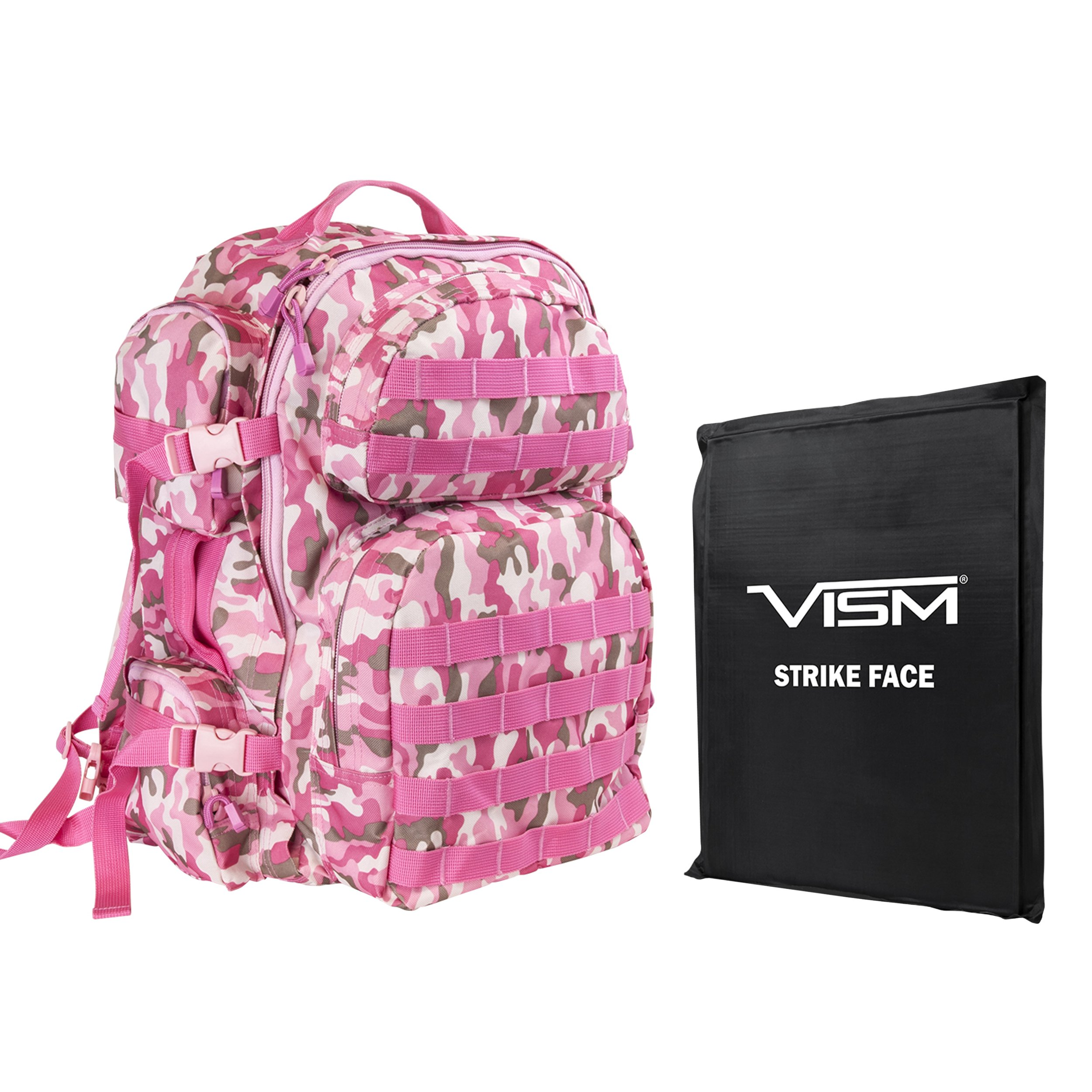 Del-ton Tactical Backpack/One 10 x 12-inch Soft Ballistic Panel Pink Camo Tactical Bag Accessories by Del-ton