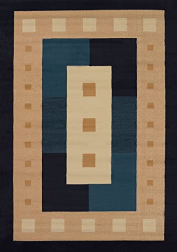United Weavers of America Time Square Area Rug in Navy 7 ft. 6 in. L x 5 ft. 3 in. W