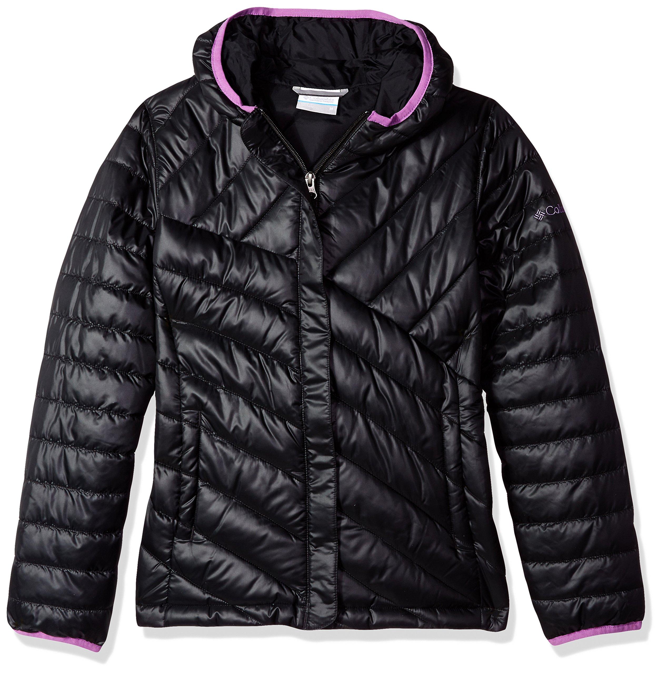 Columbia Boys' Big Powder Lite Puffer Jacket, Black, Crown Jewel X-Large